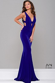 Royal Simple Cut out Fitted Dress JVN35115