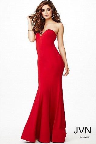 Red Sweetheart Neckline Dress JVN35192