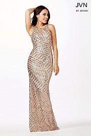 Champagne Sleeveless Dress JVN36780