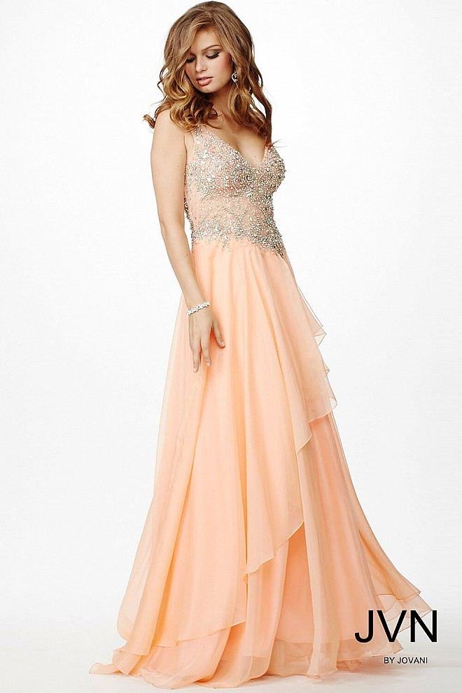 Orange Sleeveless Flowy Dress JVN93698