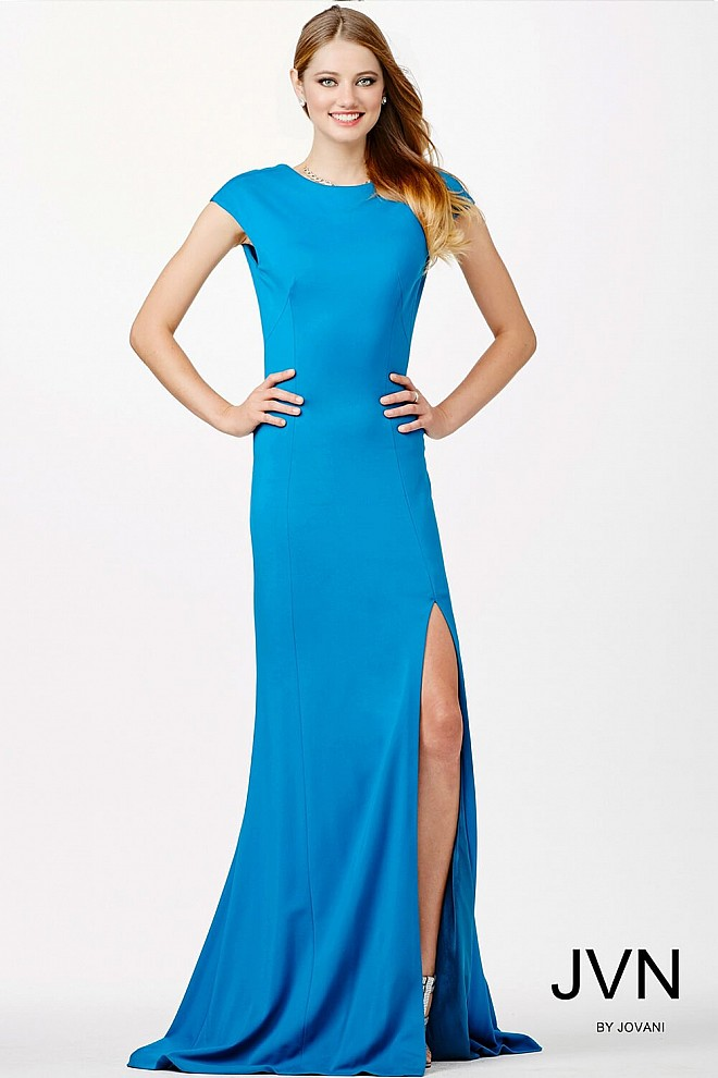 Teal Ponte Knit Dress JVN98296
