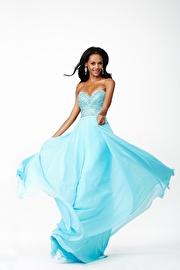 Blue Chiffon Prom Dress JVN98311