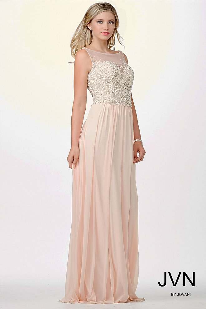 Blush Sleeveless Prom Dress JVN98420