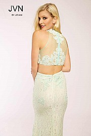 Mint Two-Piece Lace Dress JVN24405