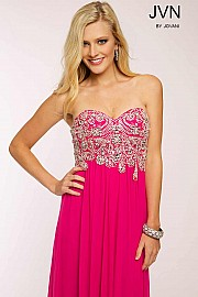 Pink Empire Waist Dress JVN20365