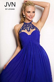 Blue Empire Waist Dress JVN22363