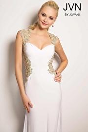 White Open Back Dress JVN25411