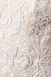 White Lace Strapless Dress JVN22457