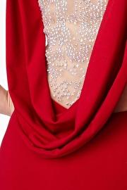Red Drape Back Prom Dress JVN23907