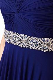 Navy Empire Waist Prom Dress JVN27139