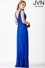 Blue Sleeveless Dress JVN27556