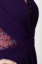 Purple Open Back Dress JVN27568