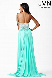 Green Strapless Prom Dress JVN27611
