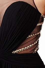 Black Open Back Dress JVN31407