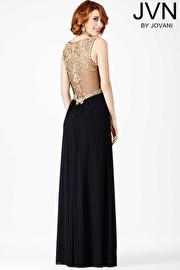 Black Embellished Prom Dress JVN31410