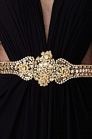 Black Embellished Prom Dress JVN31410