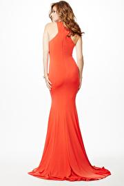 Orange Sleeveless Fitted Dress JVN35096