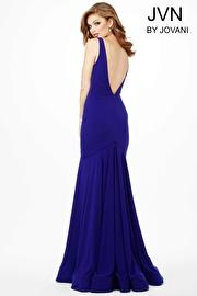 Indigo V-Neckline Trumpet Dress JVN33055