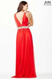 Red Crystal Embellished Dress JVN33180