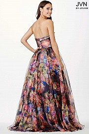 Multicolored Print Ballgown JVN33486