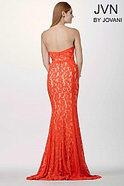 Orange Lace Prom Dress JVN34752