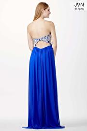 Blue Empire Waist Prom Dress JVN36850