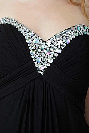 Black Open Back Prom Dress JVN20570