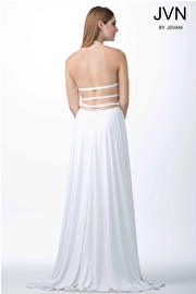 White High Slit Prom Dress JVN24953