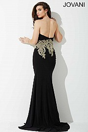 Black Sweetheart Embellished Prom Dress JVNP37669