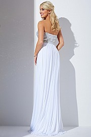White Sweetheart Neckline Prom Dress JVN30012