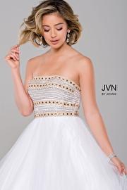 White Strapless Tulle Prom Dress JVN40374