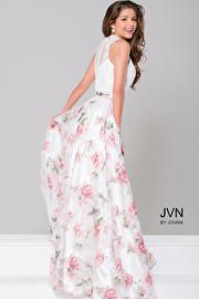 White/Multi Floral Two-Piece Dress JVN41771