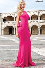 Open Back Fitted Dress JVN21899