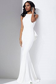 Ruffle Back Prom Dress JVN32628