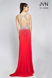 Red Jersey Crystal Embellished Dress JVN90592