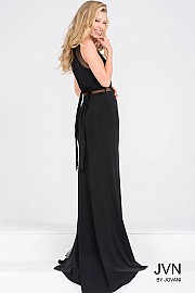 Sleeveless Black Fitted Prom Dress JVN40483