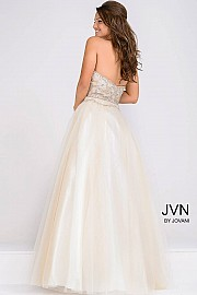 Strapless Beaded Bodice Sweetheart Neck A line Ballgown JVN47716
