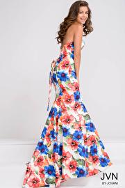 Multi Color Sweetheart Neck Mermaid Prom Dress JVN47893