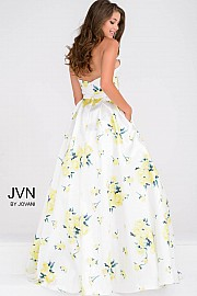 Ivory Multi Sweetheart Neck Pleated Skirt A line Ballgown JVN48488