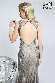 Gunmetal Trumpet Sleeveless Prom Dress JVN98665