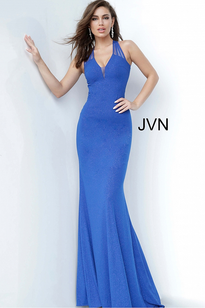 JVN00963 Royal Fitted Prom Dress