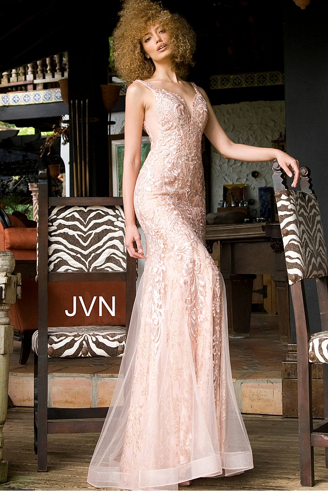 JVN02319 Blush Sweetheart Neckline Prom Dress