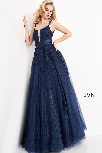 JVN4271 Floral Embroidered Prom Ballgown