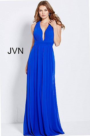 Royal Mesh Plunging Neckline Criss Cross Back JVN49762