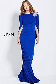 Royal Fitted Jersey Evening Dress JVN49838