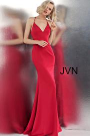 Jvn Ruby Criss Cross Back V Neck Prom Dress JVN55642