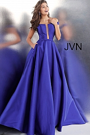 Red Off the Shoulder Prom Ballgown with Pockets JVN62743