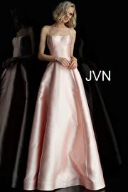 Jvn Blush Tie Back A Line Prom Dress JVN63019