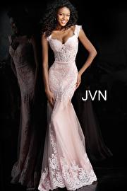 Jvn Blush Sweetheart Neck Embroidered Prom Dress JVN65688