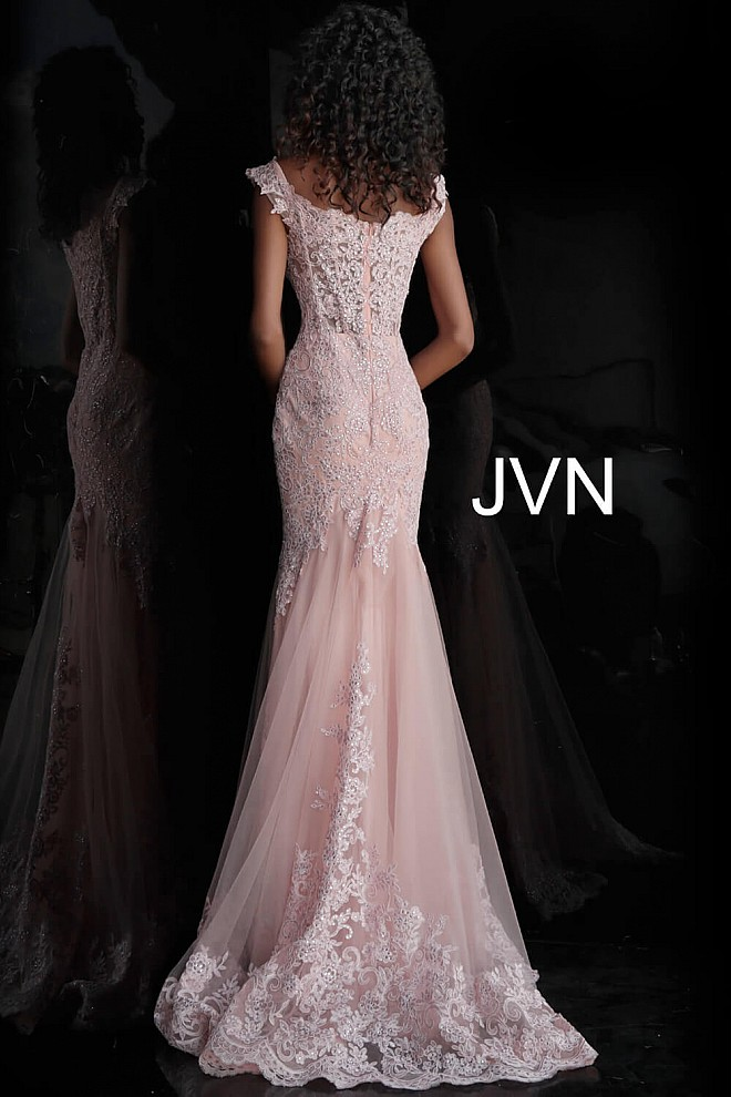 703e8c36cd3 Blush Embroidered and Embellished Sweetheart Prom Dress